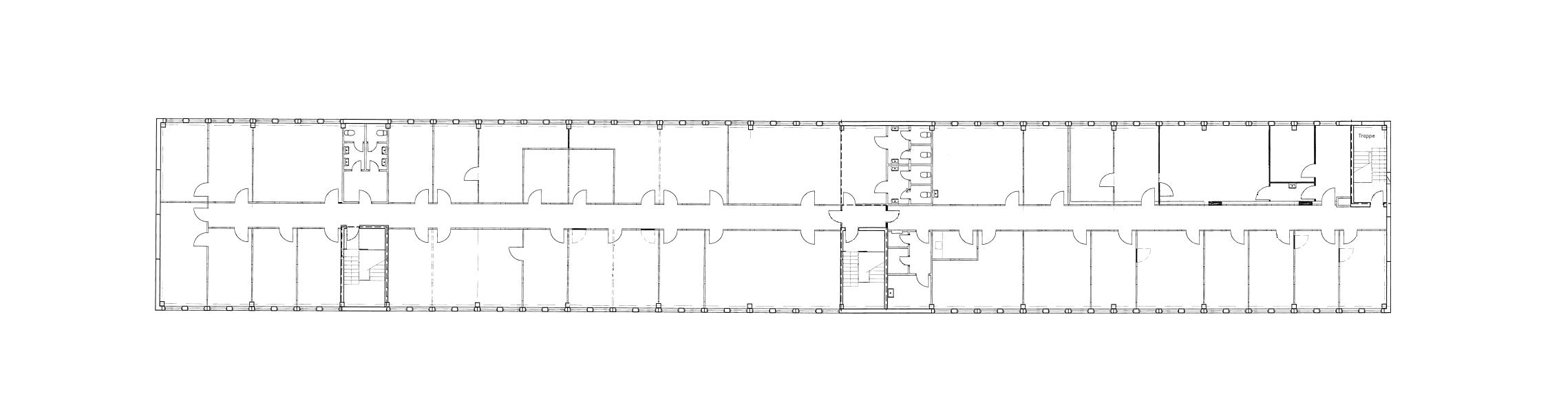 Plantegning 1. sal - Bygning D