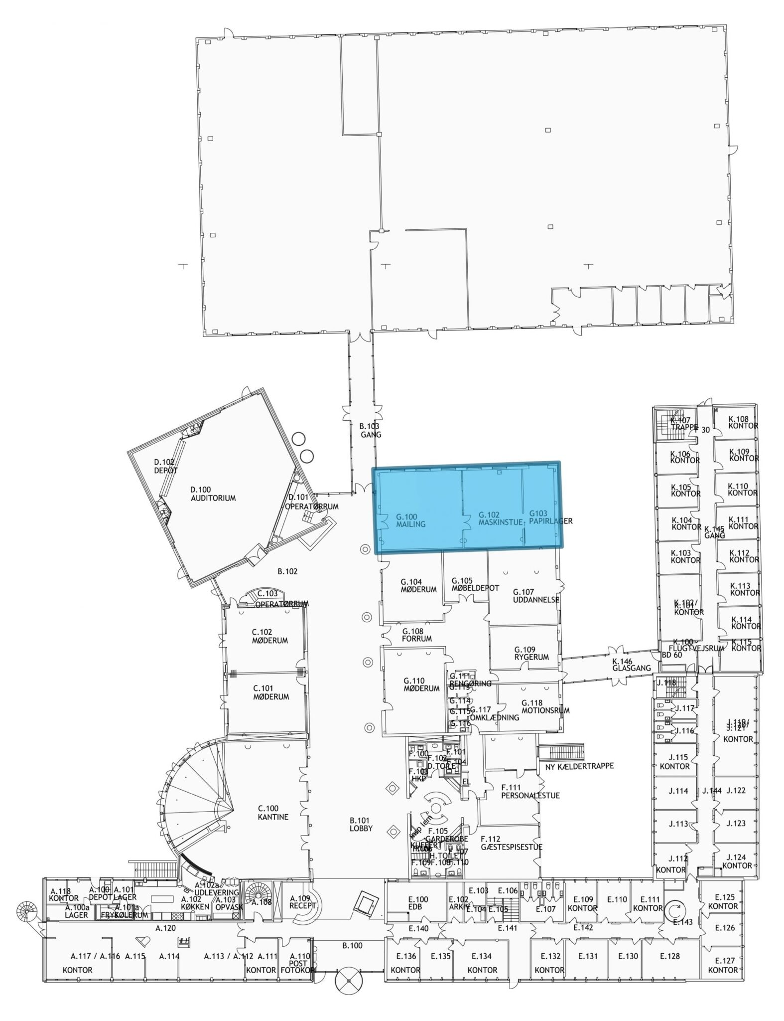 Plantegning - stueetage - 208 m² showroom