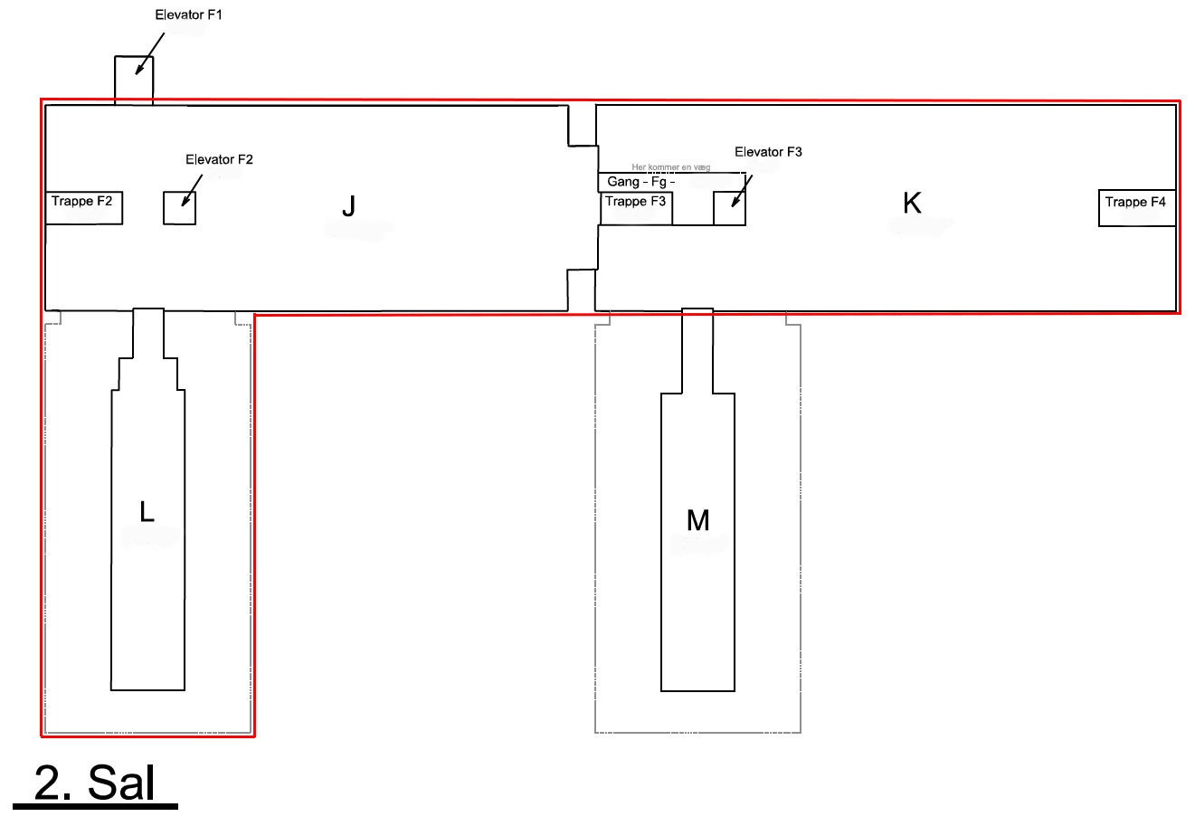 Plantegning - Vesterlundvej 14 - 2. sal - 1690 kvm