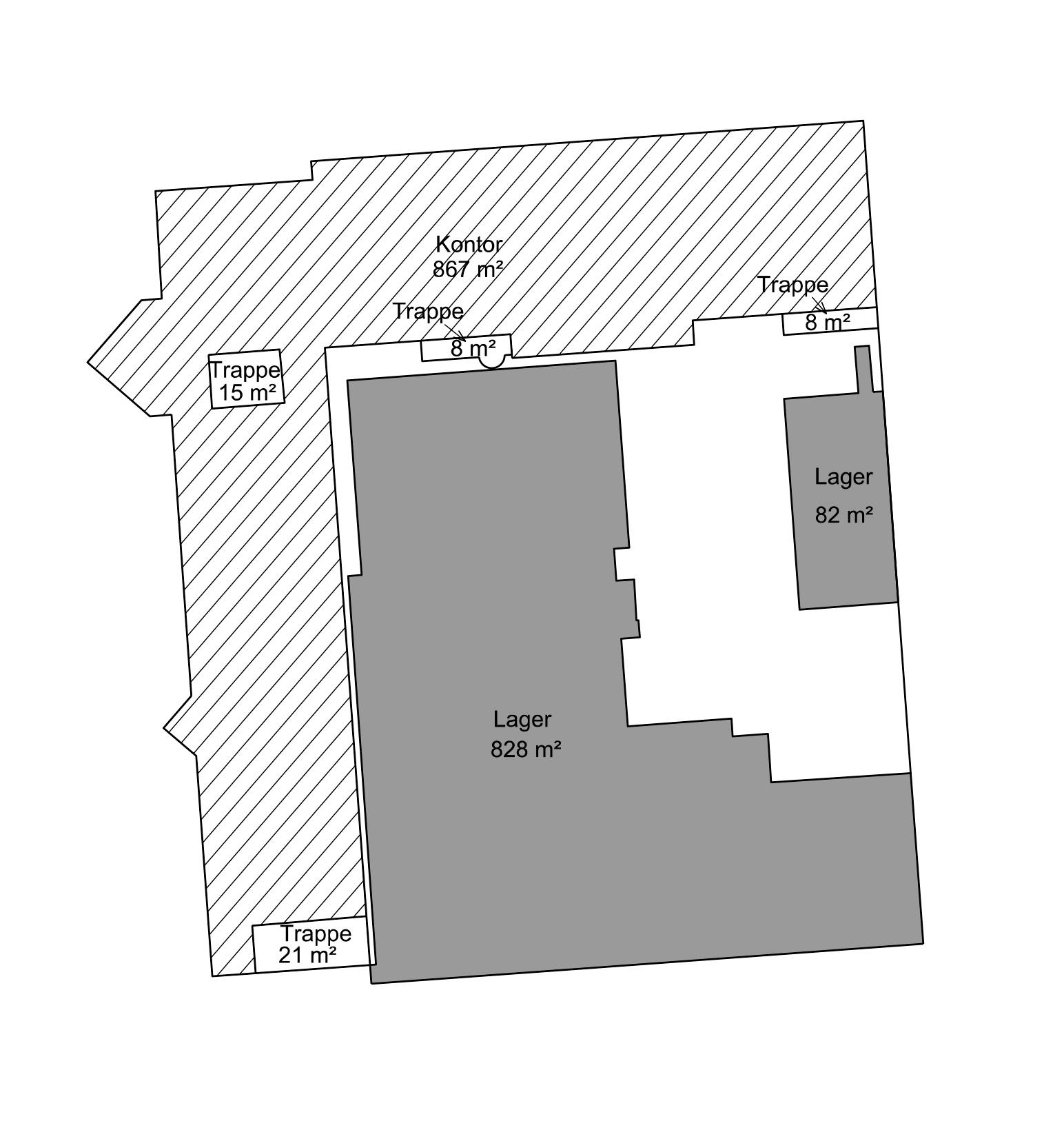 Plantegning - 1. sal - Bygn. 1 - Brandstrupvej 4