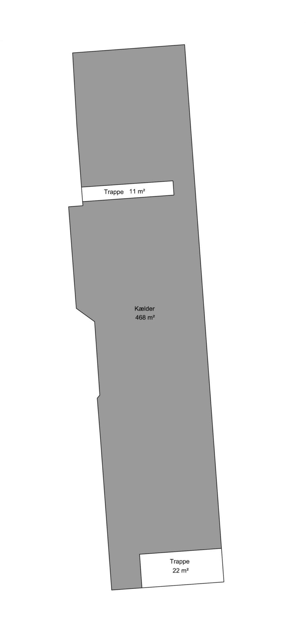 Plantegning - Kælder - Bygn. 1 - Brandstrupvej 4