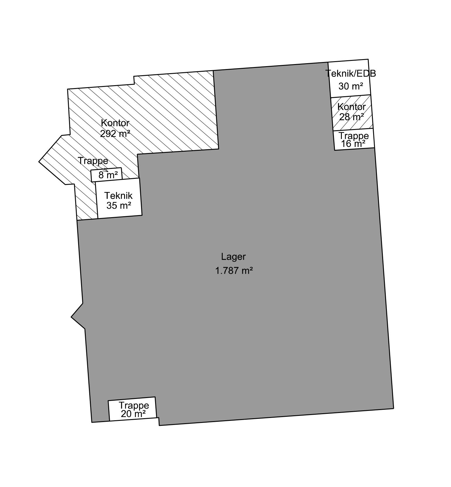 Plantegning - Stueplan - Bygn. 1 - Brandstrupvej 4