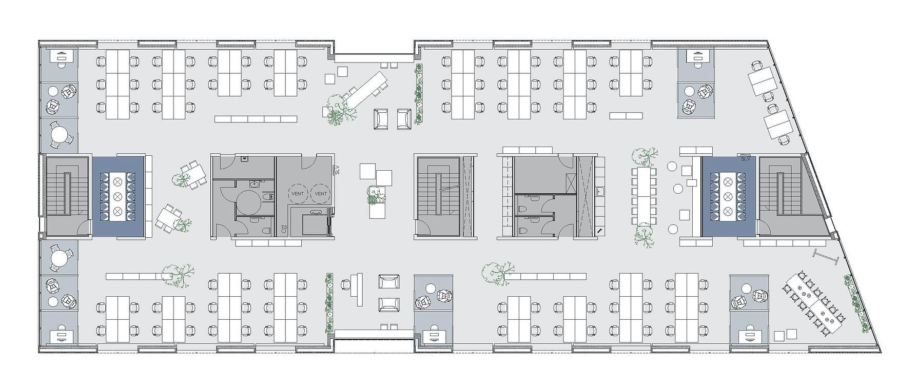 Indretningsforslag - Industriparken 21, 2. sal