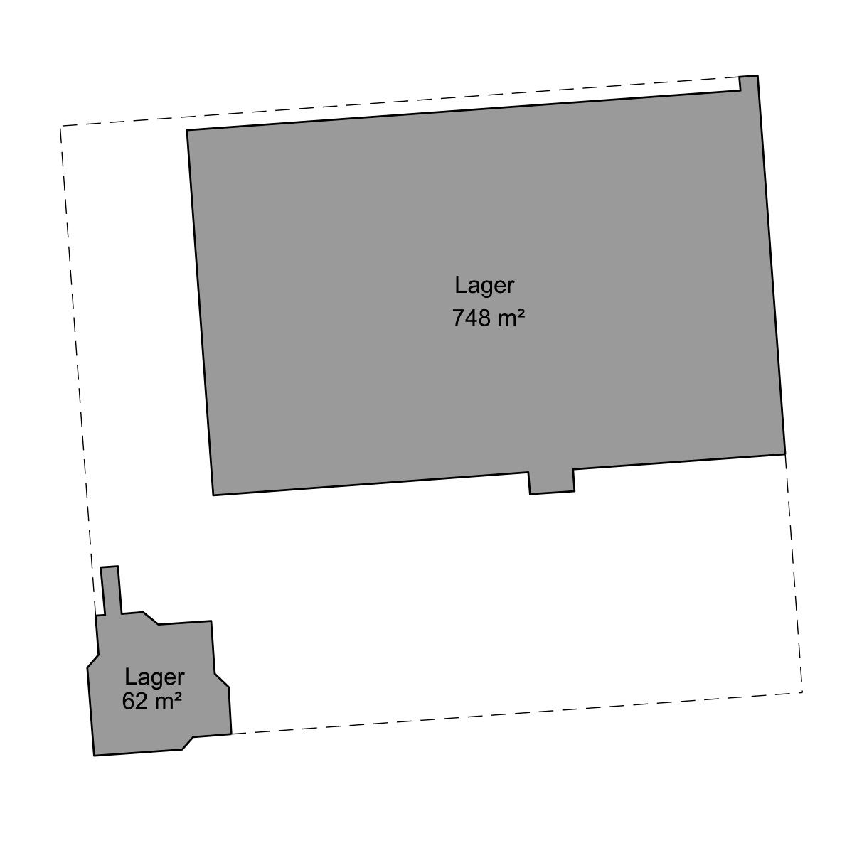 Plantegning - 1. sal - Bygning 2 - Brandstrupvej 4