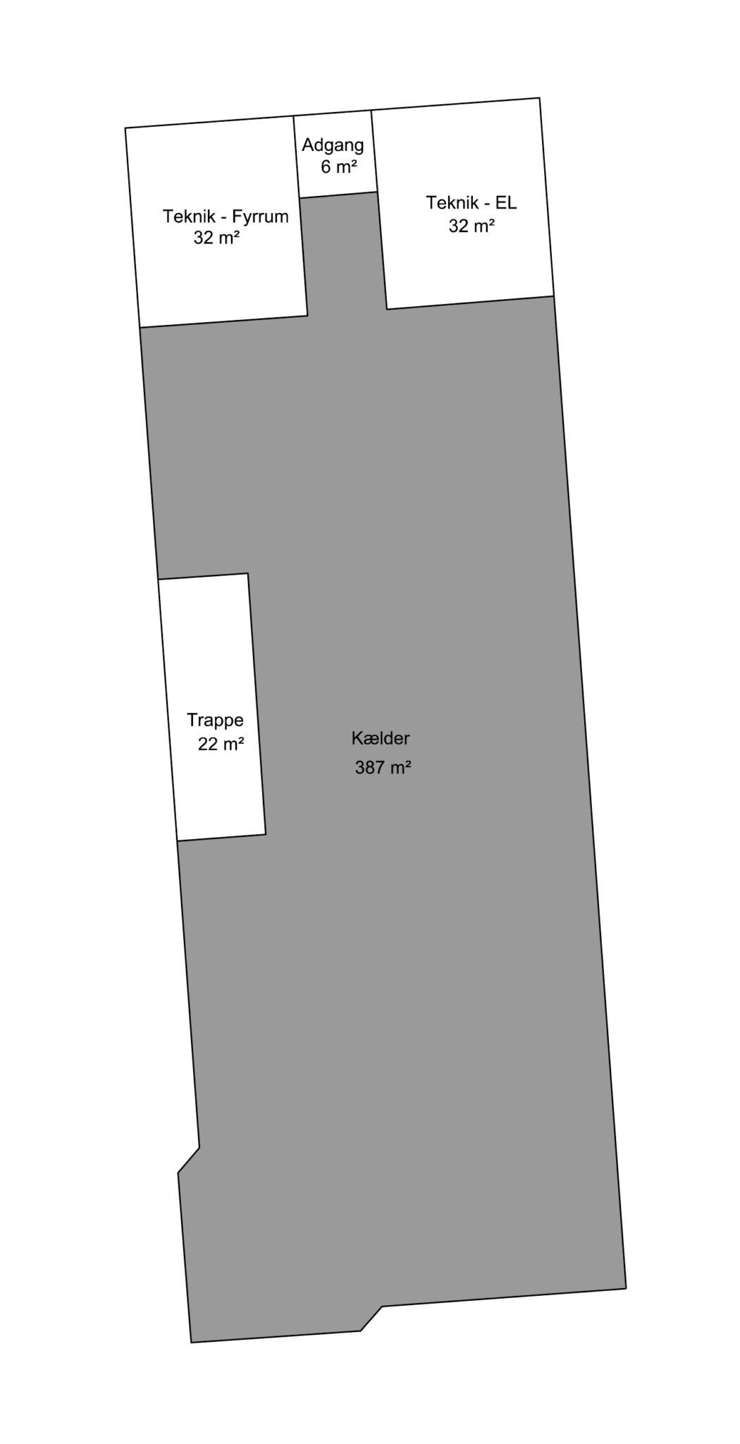 Plantegning - Kælder - Bygning 2 - Brandstrupvej 4