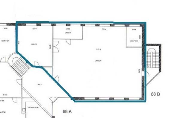 Plantegning stueetage - 253 kvm - Arnold Nielsens Boulevard 68