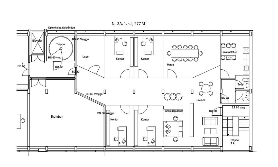 Plantegning 3A - 277 m²