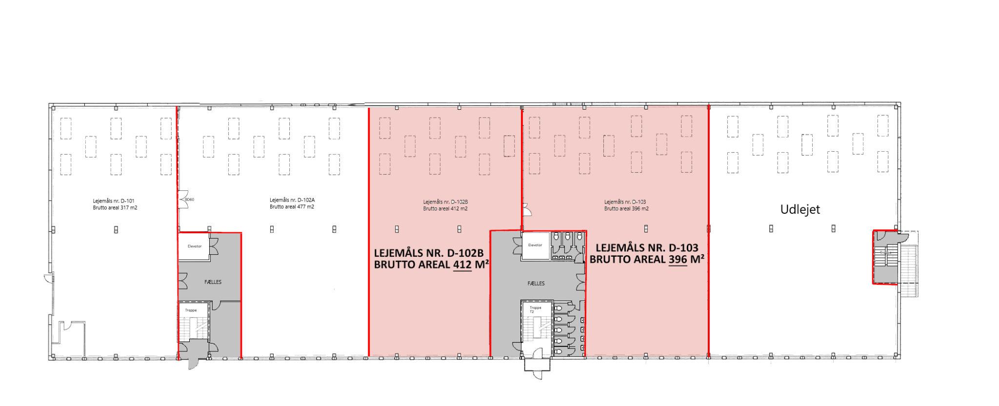 Plantegning stueplan lager 1.347 m2