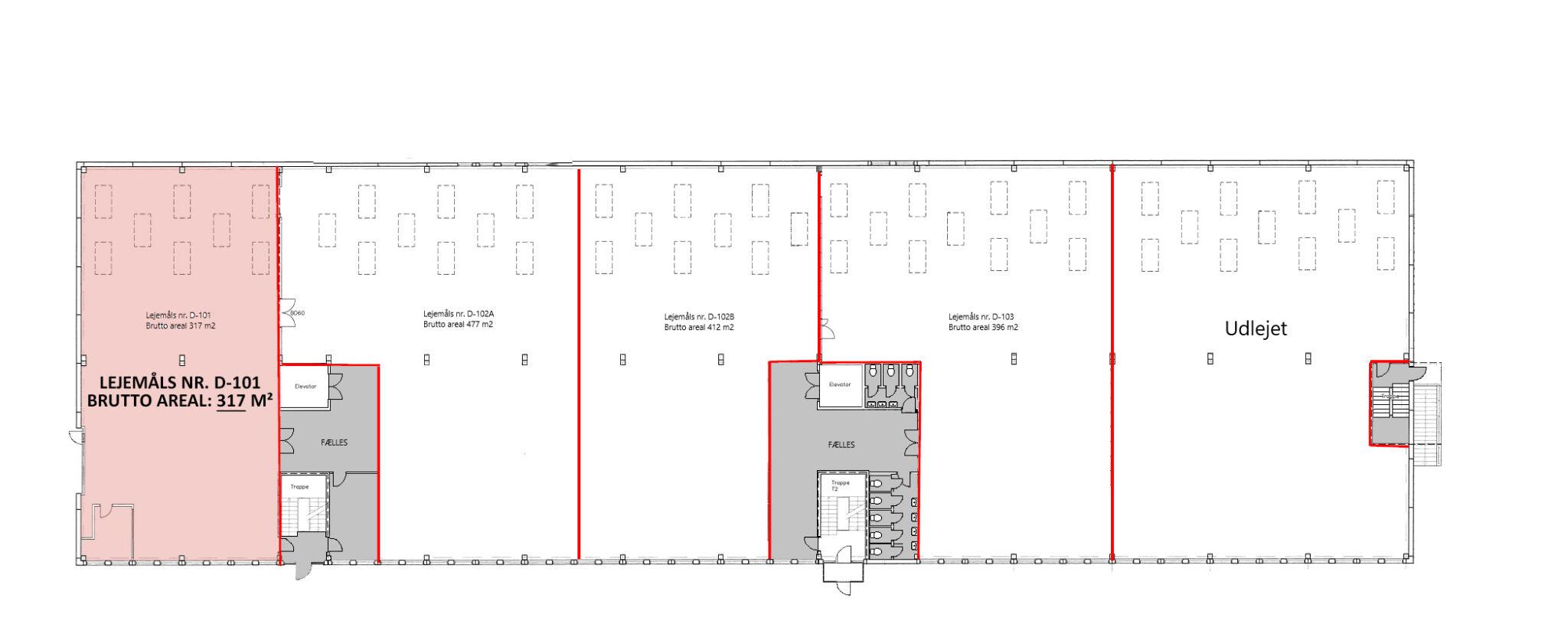 Plantegning lager stueplan 317 m2