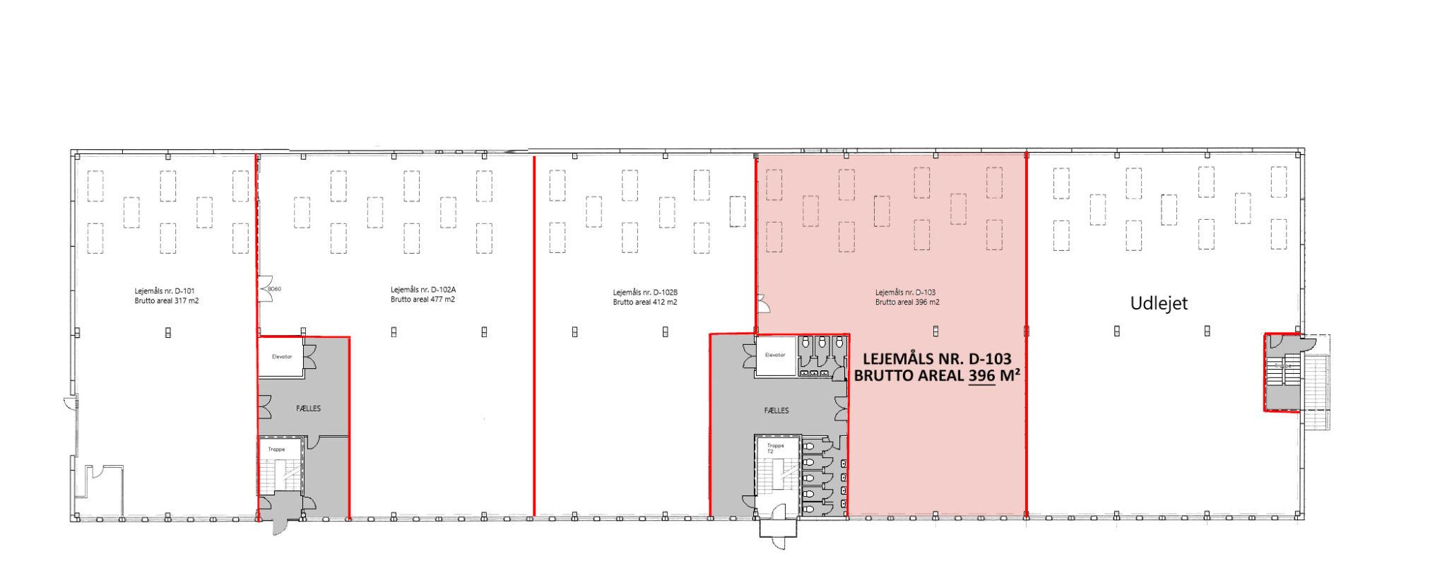 Plantegning stueplan lager 396 m2