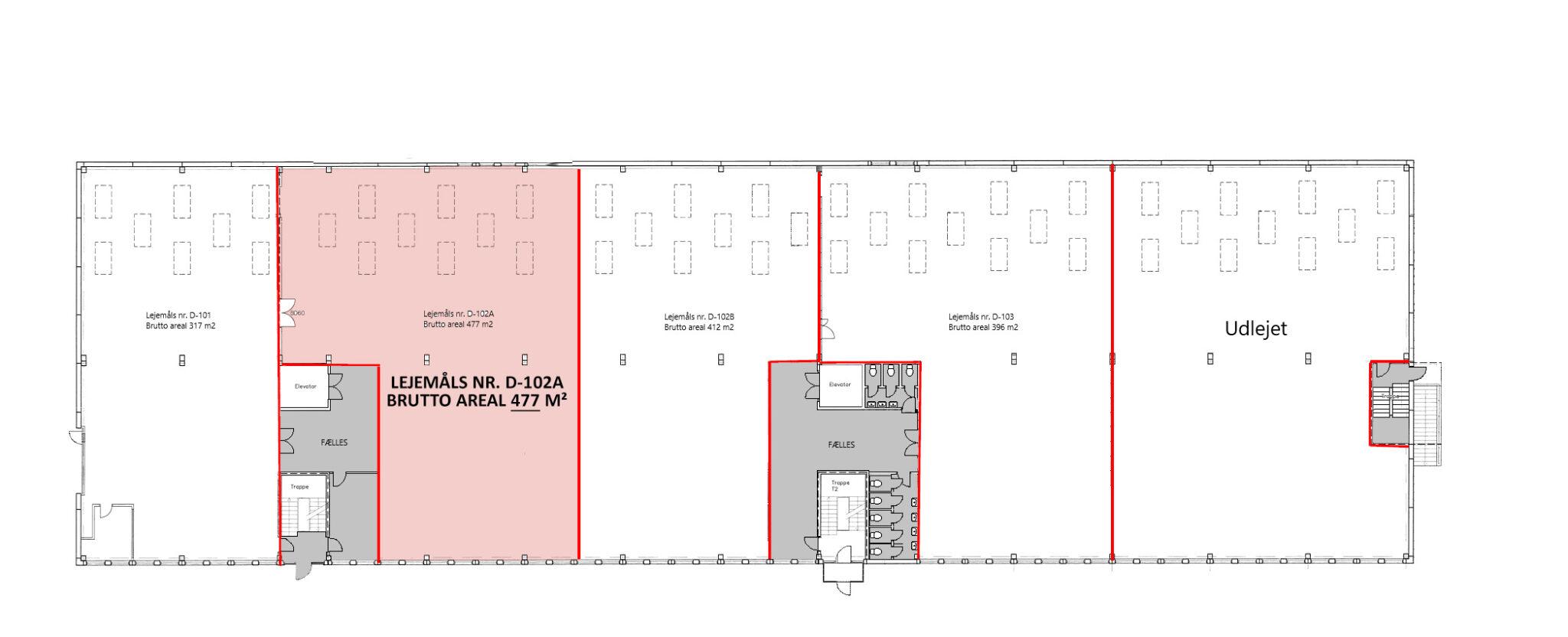 Plantegning stueplan lager 477 m2