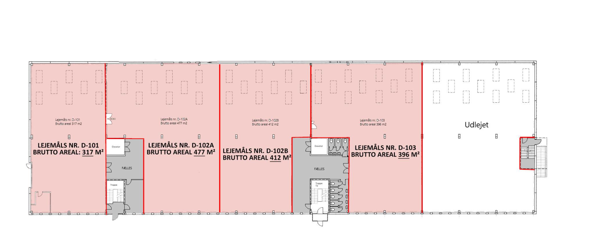 Plantegning stueplan lager 2.670 m2